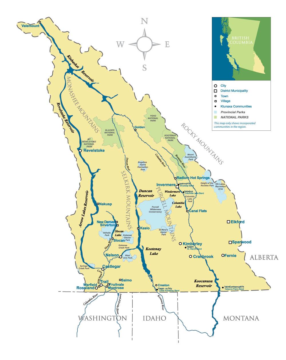CBEEN - Service Area Map
